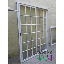Ventana Balcon De Aluminio 150 X 200 Vidrio Repartido