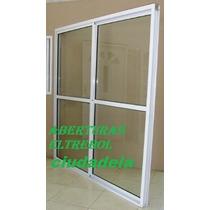 Puerta Ventana Balcon 2x2 Vidrio Entero Con Alto Transito