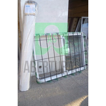 Ventana Aluminio Blanco Ent 150 X 110 C/guia, Reja Y Cortina