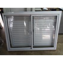 Ventana De Aluminio 120x110 Con Postigon Reforzado