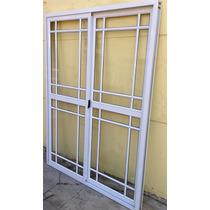 Puerta Ventana Balcon Aluminio Blanco Repartido 150x200 Va22