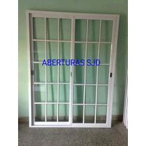 Puerta Ventana Balcon Aluminio 180x200 Corrediza V/repartido
