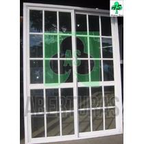 Puerta Ventana Alum Bl Rep 1,50 X 2,00 C/vidrio ( Aberturas)