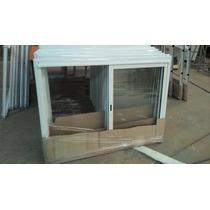 Ventana Corrediza De Aluminio Blanco 150x60