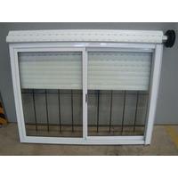 Ventana De Aluminio Blanco Con Reja Vidrios Cortina 150x110