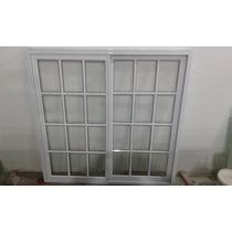 Ventana Aluminio Blanco 150x150 Vidrio Repartido, Corrediza