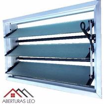 Aireador Ventiluz Aluminio Natural 60x36 C/reja Y Mosquitero