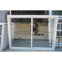 Ventana De Aluminio Blanco De 150x110 Con Vidrio