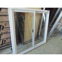 Vent Corred Aluminio Bco Vidrio Entero 150 X 110 Con Vidrio