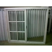 Ventana De Aluminio Blanco Con Vidrio V/repartido 120x110