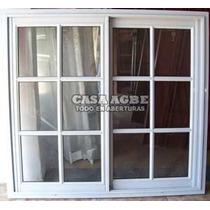 Ventana Aluminio Blanco Vidrio Repartido 120x100 Con Vidrio.