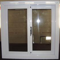Ventana Aluminio Blanco Vidrios Entero 60x80 Con Vidrio