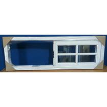 Ventana Aluminio Blanco Vidrio Repartido 100*040