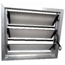 Aireador Ventiluz Aluminio Natural 40x36 C/reja Y Mosquitero