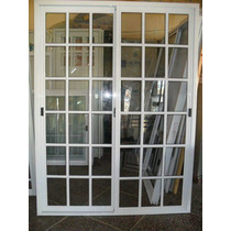 Puerta Ventana Balcon 150x200 Aluminio Vidrio Repartido