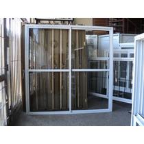 Puerta Ventana Aluminio Blanco 2.00x2.00 Vidrio Entero
