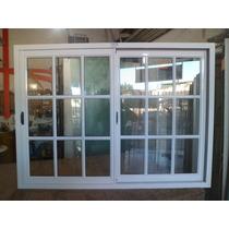 Ventana De Aluminio Blanco Vidrio Repartido 150x110