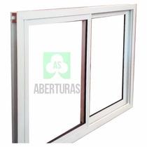 Aberturas: Ventana Aluminio Blanco Entero 1,50x1,10 C/vidrio