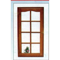 Ventana Tipo Rajade 70x110 Con Vidrios Y Celosia Extra Porch