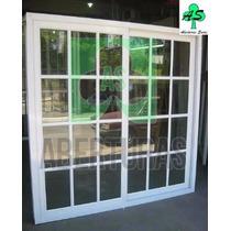 Ventana De Aluminio Blanco 150 X 150 Con Vidrios Repartidos
