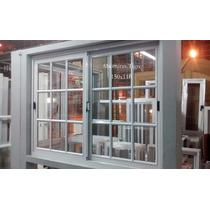 Ventana De Aluminio Blanco 1,50 X 1,10 Mts Vidrio Repartido