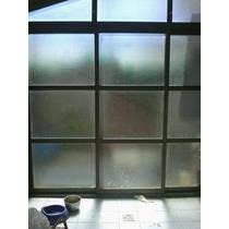 Ventana Corrediza De Aluminio 2,70 X 2 Con Vidrio Esmerilado