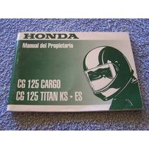 Honda Cg 125 Cargo Titan Ks Es M Original