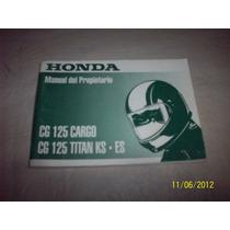 Manual De Uso Y Mantenimiento Original Honda Cg 125 Ks Y Es