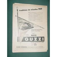 Publicidad Motos Guzzi Keith Campbell Campeon Mundial 1957