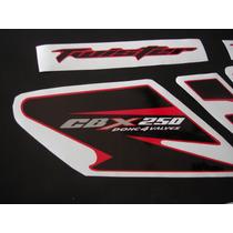 Calcos Para Honda Cbx 250 Twister Moto Roja Calco Negro