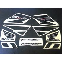 Calcos Para Honda Cbx 250 Twister Moto Gris Calco Negro