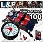 Inflador De Pie Doble Bomba 100 Psi Lyf F-811 Llantas Pelota