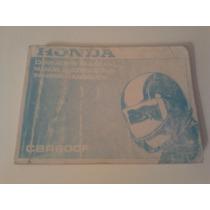 Libro-manual De Usuario: Moto Honda Cbr 600 F Año 1997