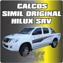 Calcomania Toyota Hilux Srv Laterales