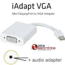 Thunderbolt Mini Displayport A Vga Mas Audio Adaptador