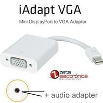 Thunderbolt Mini Displayport A Vga Mas Audio Adaptador