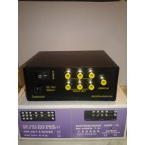 Distribuidor Amplificador De Video 1 A 6 Con Fuente