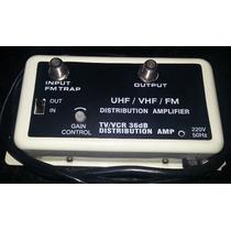 Amplificador De Señal 36 Db Uhf/vhf/fm Antena/video Cable