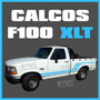 Calco Franja Ford F100 Xlt Calcomania Ploteoya!