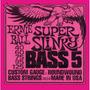 Ernie Ball 2824 Para Bajo 5 Cuerdas 40 / 125 Super Slinky