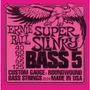 Encordado Bajo 5 Cuerdas 040-125 Slinky Ernie Ball Eb2824