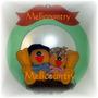 Muñecos Country Cartel De Bienvenida Con Pajaritos