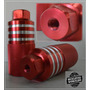 Pedalin Aluminio Para Bicicleta Rojo