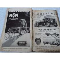 Antiguo Diario Ingles Del Camionero Año 1940 Camion Crossley