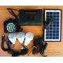 Grupo Electrógeno Solar. Batería Con Cuatro Salidas 3 Focos