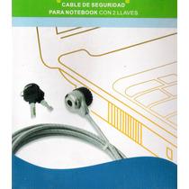 Cable De Seguridad Reforzado Doble Net/notebook 2 Llaves