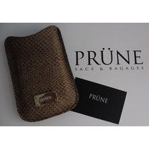 Portacelular Cuero Prune, Marron Unisex. Blackberry Y Otros