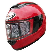Casco Suomy Booster Marca Italiana Color Rojo