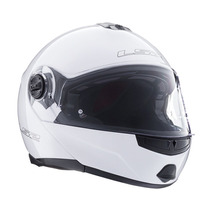 Casco Ls2 Ff386 Ride Revatible Blanco Doble Visor Moto Delta