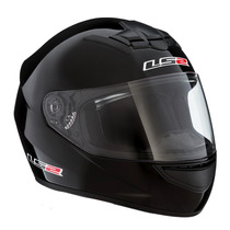 Casco Ls2 Ff-350 Single Mono - Gloss Black - Bonetto Motos